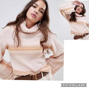 NWT FREE PEOPLE Come To Me Cropped Sweater